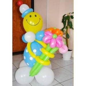 """Фигура из шаров """"Смайл с букетом"""""""